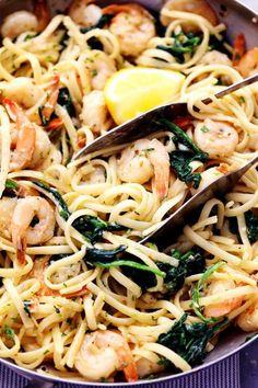 Lemon Garlic Parmesan Shrimp Pasta | The Recipe Critic