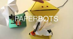 PaperBot is a interactive device that reacts to motion or presence by moving paper foldings. It combines digital and physical computation, i.e., low tech kinetic properties of materials - the memory of folded paper - with mechanical actuators as found in LEGO Mindstorms and visual coding. Paperbots are designed as DIY objects that can be easily reproduced without requiring any previous knowledge in coding, mechanics or arts.