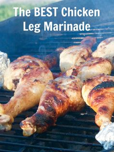 On the hunt for chicken drumstick recipes? If you want to grill chicken wings, or are wondering how to grill chicken legs, this chicken marinade for the grill is for you! Pin it now!