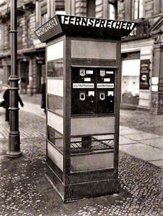 Telephone box with stamp machine at Hallesches Tor... - ✨Vintage, Arts, Architecture✨