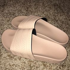 e2caf20987e57 Shop Women's adidas Cream Pink size Sandals at a discounted price at  Poshmark.