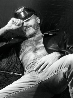 Hairy Daddy. Beards. Going Grey. Ink. Leatherman.