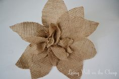 burlap flower   Gathered Burlap Flower   Living Well on the Cheap