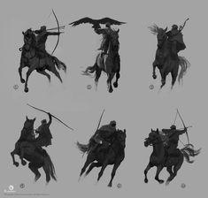 Bayek on Dromedary and sketches Native Drawings, Horse Drawings, Pencil Drawings, Fantasy Warrior, Fantasy Art, Illustrations, Illustration Art, Academic Drawing, Knight On Horse