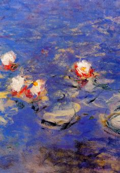 Claude Monet: Blue Water Lilies (impressionism water blue)