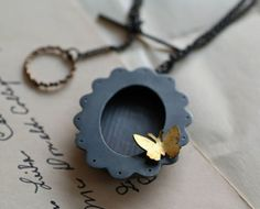 ❥ stirring...shadow box brooch and necklace by grindstonegirl ( kathi roussel )