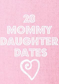 20 Mommy-Daughter Date Ideas - I love this as I am always trying to think of fun things to do for that one on one time. Thinking there might be an invitation for a Mommy-daughter mani-pedi in the stocking this year:-) Mommy Daughter Dates, To My Daughter, Little Doll, My Little Girl, Raising Kids, Raising Daughters, Teenage Daughters, Kind Mode, Cool Kids