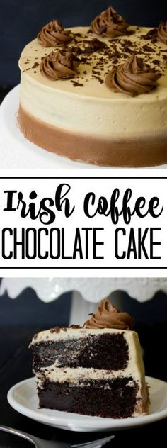Moist, rich and delicious you cant go wrong with thid Irish Coffee Chocolate Cake!!