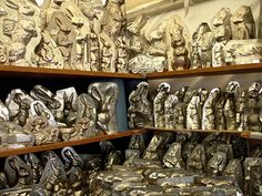 Awesome chocolate bunny mold collection.  Do you eat the ears off first when you have a chocolate bunny?