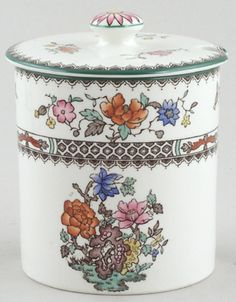 Spode - Chinese Rose colour - Jam or Preserve Pot c1930s
