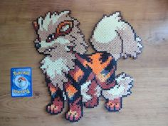 Arcanine Pokemon Perler Bead Sprite by PokePerlers on Etsy