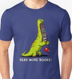 e5b7fca96 'Dinosaur Book Lover Women Funny Brachiosaurus' T-Shirt by Nikolay Todorov