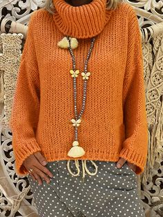 Kazak Modelleri Best Picture For knitting crochet For Your Taste You are looking for something, and it is going to tell you exactly what you. Loose Sweater, Long Sleeve Sweater, Chunky Crochet, Knit Crochet, Jugend Mode Outfits, Mein Style, Moda Plus, Sweater Knitting Patterns, Stylish Tops