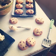 Making cookies. Dollhouse miniatures by Kim Saulter