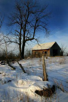 Snowy Barn Watertown NY  #abandoned #snowy #barn #watertown #photography
