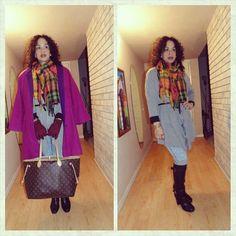#OOTD - Vintage Coat and More Plaid! To read more about this post visit/follow #MadForFashionForLess on Facebook!  #iwokeuplikethis #lookforless #latinafashiondiaries #lookfabulousatanyage #vintage #plaid #winterlayering