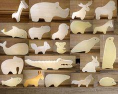 4 animaux bois au choix - Jouet écologique - Montessori