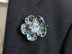 Sophisticated Men Lapel Flower, Wedding Boutonniere, Buttonhole.