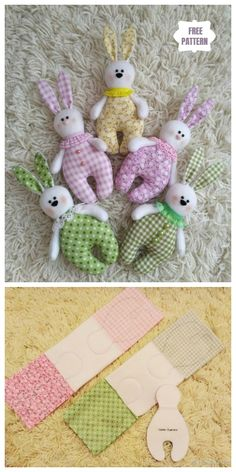 Easy DIY Fabric Bunny Free Sewing Pattern for Kids Evil eye beads, which is one of many first issues that … Doll Patterns Free, Animal Sewing Patterns, Sewing Patterns For Kids, Sewing For Kids, Free Sewing, Bead Patterns, Weaving Patterns, Quilt Patterns, Free Pattern