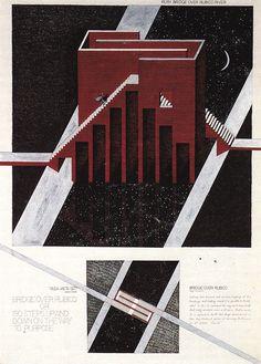 MIKHAIL BELOV BRIDGE ACROSS THE RUBICON, COMPETITION PROJECT, 1987