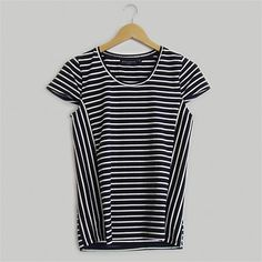 Shop Women's Clothing Online 2 | Wild South - COTTON STRIPE CAP SLEEVE TEE