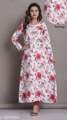 Kurtis & Kurtas Women's Printed White Rayon Kurti Fabric: Rayon Sleeves: Sleeves Are Included Size:M- 38 in L - 40 in XL- 42 in  XXL-44 in Length: Up To 46 in  Type: Stitched Description: It Has 1 Piece Of Women's Kurti Work: Printed Country of Origin: India Sizes Available: M, L, XL, XXL   Catalog Rating: ★4.2 (18474)  Catalog Name: Women Printed Rayon Kurtis CatalogID_418701 C74-SC1001 Code: 463-3059854-