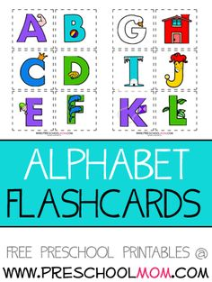 cute alphabet flashcards