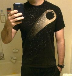 Fan made #StarWars t-shirt made using bleach! Want!