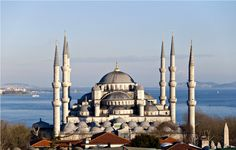 The Blue Mosque (Called Sultanahmet Camii in Turkish) was built by Sedefkar Mehmet Aga in the sultan Ahmet's time between years. Turkey Photos, Blue Mosque, Blue Tiles, Taj Mahal, Photo Galleries, Tours, Gallery, Building, Travel