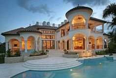 Plan W24106BG: Spanish, Mediterranean, Photo Gallery, Premium Collection, Florida, Luxury House Plans & Home Designs