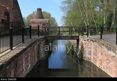 Stock Photo - The canal next to Coalport China Museum, Ironbridge, which leads to the bottom of the Hay Inclined Plane, built in 1793