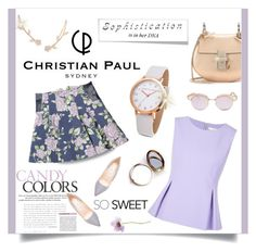 """Christian Paul watch!"" by kendraborneman ❤ liked on Polyvore featuring Humble Chic, Diane Von Furstenberg, Chloé, Jimmy Choo, Odeme, Le Specs and christianpaul"