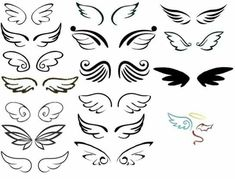 Wing pairs I made from all choices so far I saw and let's… – My Pin Table . - Wing pairs I made from all choices so far I saw and let's… – My Pin Table – Shared Pins - Tattoo Son, Doodle Tattoo, Tattoo Wings, Angel Wing Tattoos, Small Angel Tattoo, Small Angel Wings, Angels Tattoo, Bild Tattoos, Body Art Tattoos