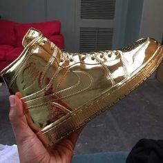 All Gold Jordan One's