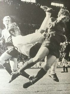 Jimmy tries an overhead kick