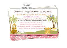 partyexpressinvitations - Baby Simba Book Insert Card Baby Shower, $4.00 (http://www.partyexpressinvitations.com/baby-simba-book-insert-card-baby-shower/)