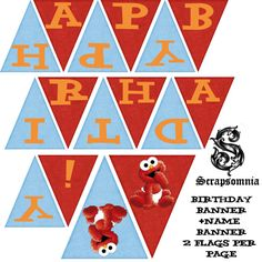 Elmo inspired Printable Party Package Files by Scrapsomnia on Etsy, $40.00