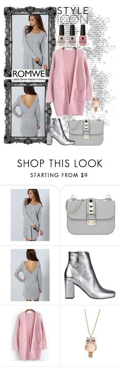 """""""Romwe contest"""" by adancetovic on Polyvore featuring Valentino, Yves Saint Laurent, Victoria's Secret and romwe"""
