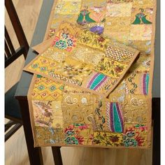 World Menagerie Vizcarra Hand Crafted Cotton and Poly Recyled Sari Placemat