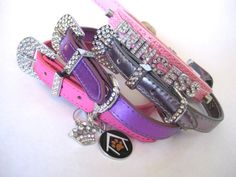 Rhinestone Dog Collar Crystal Bling Buckle - Add Name Free! 9 colors