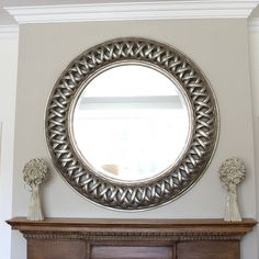 grand silver open weave round mirror by decorative mirrors online | notonthehighstreet.com -would like to do something similar aboveboard dining table