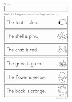 Reading Worksheets for Kindergarten Activities - Reading worksheets help children develop the early skills needed to become a good reader. Free Kindergarten Worksheets, Reading Worksheets, Kindergarten Reading, Summer Worksheets, Phonics Worksheets, Printable Worksheets, Math Literacy, Ixl Math, English Lessons