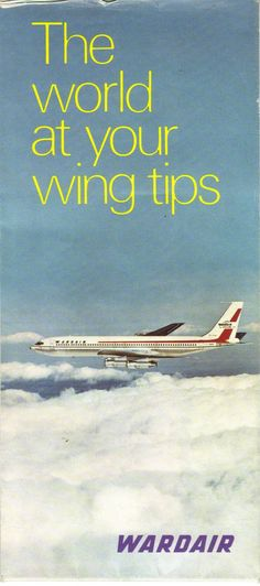 Airlines Past & Present: Wardair Aircraft Post Cards & Route Map Midway Airlines, United Airlines, Vintage Travel Posters, Vintage Airline, Air Jamaica, Canadian Airlines, Iran Air, I Am Canadian, Come Fly With Me