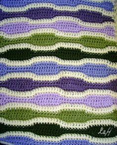 Lanas Hilos: WAVE BLANKET (pattern)