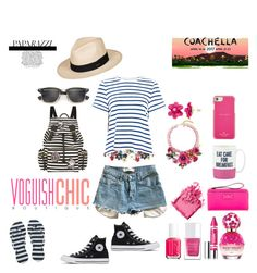 """Summer Outfit // Coachella Inspiration"" by peltomakipauliina on Polyvore featuring Sea, New York, Levi's, Roxy, Ray-Ban, Burberry, Marc Jacobs, Clinique, The Hand & Foot Spa, Essie and Bobbi Brown Cosmetics"