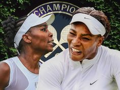 Serena Williams Venus Williams Simona Halep Angelique Kerber in Wimbledon action