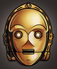 How to Draw C-3PO Easy, Step by Step, Star Wars Characters, Draw Star Wars, Sci-fi, FREE Online Drawing Tutorial, Added by Dawn, January 13, 2014, 1:47:24 am