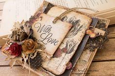 """Vintage Cafe Card Challenge: """"Botanical...."""" - ботанические открытки (страницы)."""