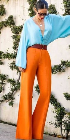 Color Combinations For Clothes, Color Blocking Outfits, Looks Chic, Looks Style, Colourful Outfits, Colorful Fashion, Look Fashion, Fashion Outfits, Womens Fashion