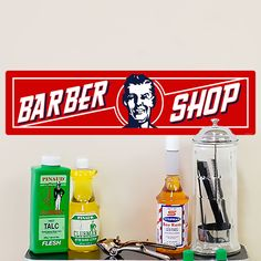 Add some retro style to your walls with this beautiful wall decal! The Barber Shop Wall Art's nostalgic artwork creates the feel of an old-time barber shop, making it perfect for your resident or commercial place. This peel and stick graphic can be applied in minutes and is easy to remove anytime you want to change the look of your decor.